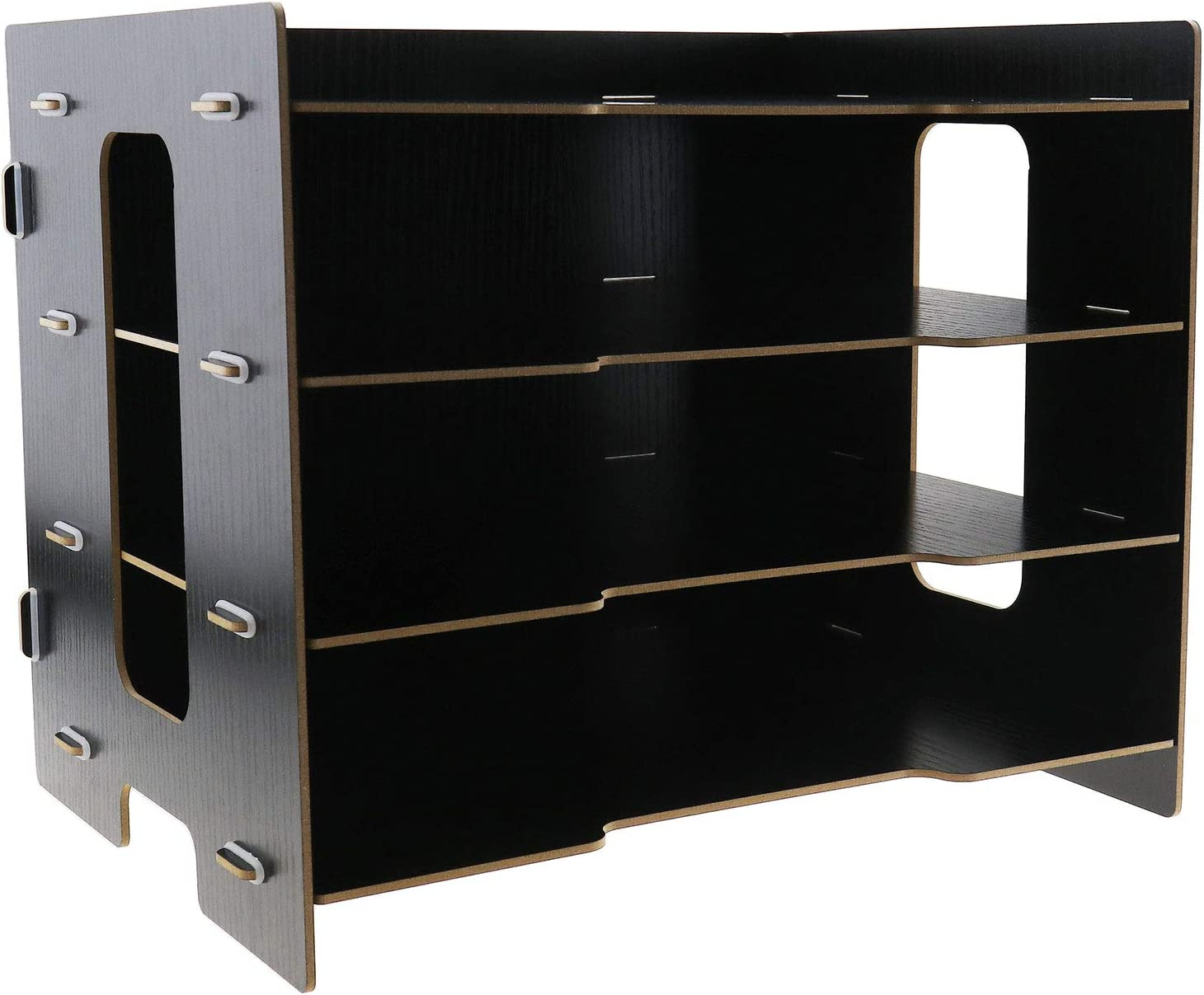 Desktop File Sorter Organizer, 33x27x24cm Wooden Tray Office Home School Office Home School -Black