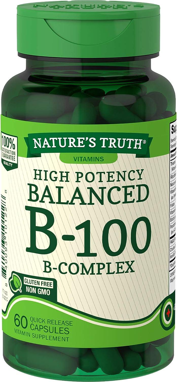 Nature's Truth Vitamin B Complex | 60 Capsules | B-100 | Non-GMO & Gluten Free