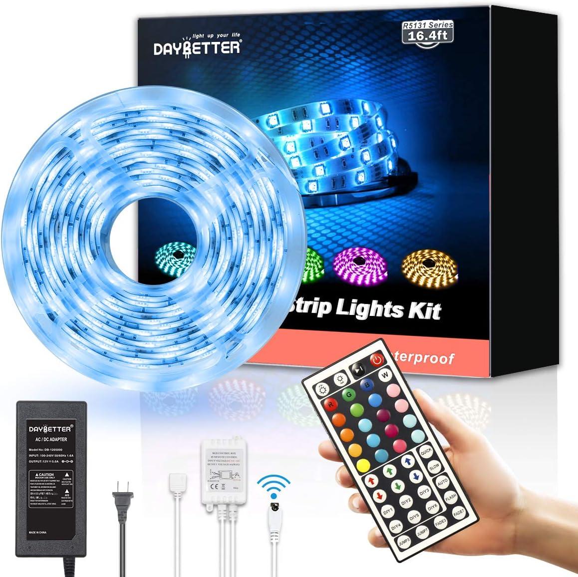 LED Strip Lights,16.4ft Light Strip with 150 led lights for bedroom,waterproof