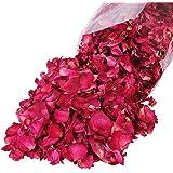 UniSign レッドローズ ライフラワー 花びら 花材 ローズペタルド ローズ レッド 美容用品 体を調える 風呂 100g