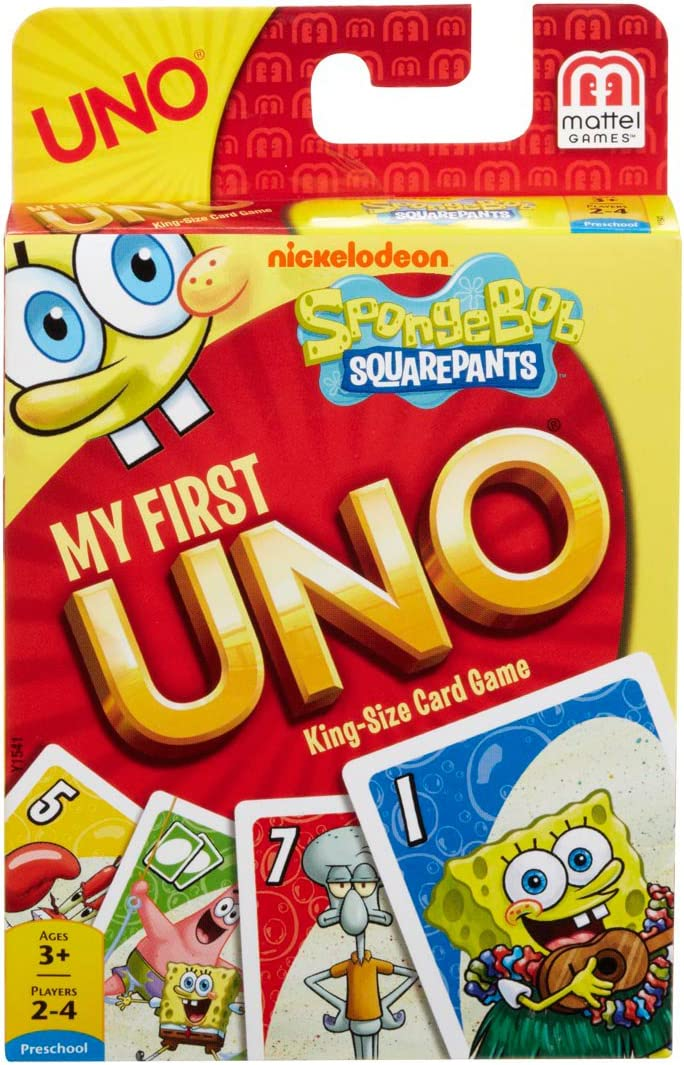 Spongebob Squarepants My First UNO Card Game by Mattel: Amazon.es: Juguetes y juegos