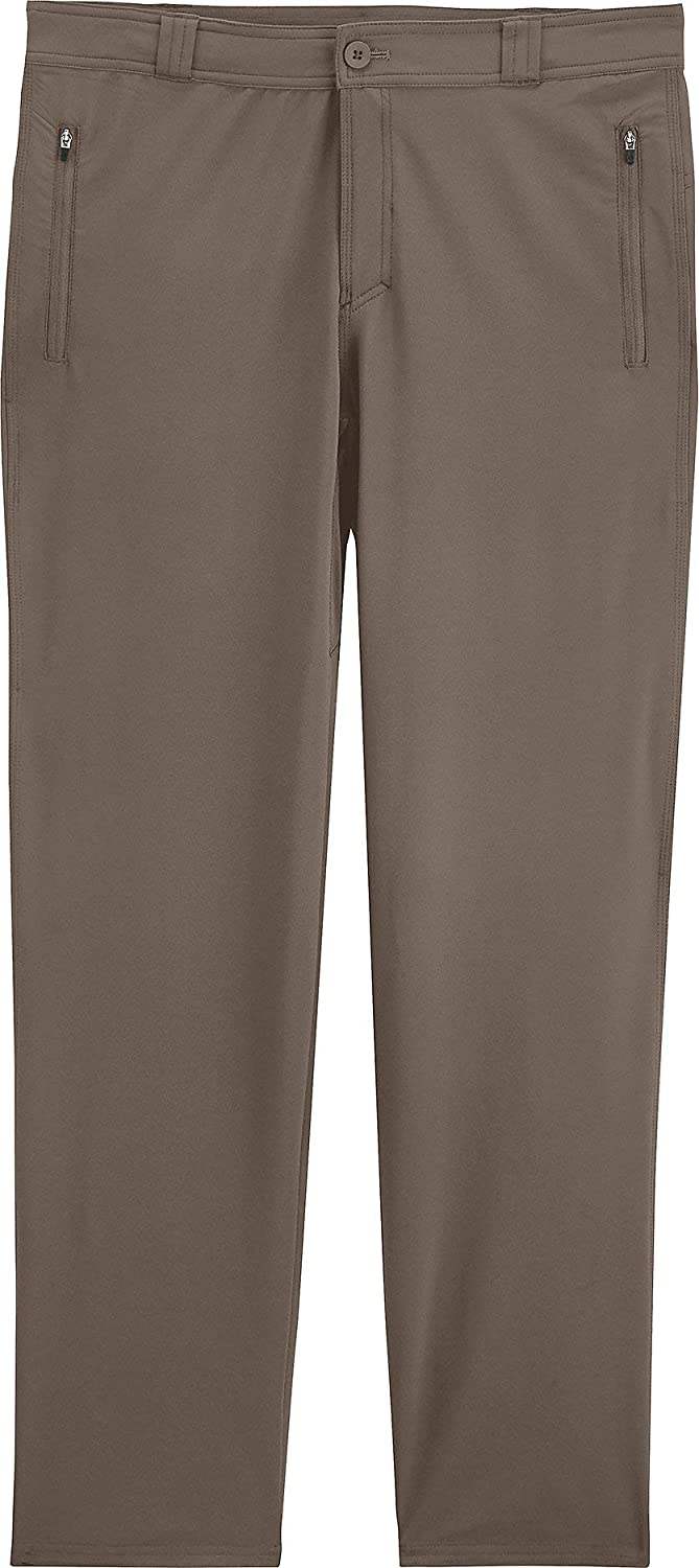 Mens Highlander Hiking Pants Sun Protective Coolibar UPF 50 38X30- Dark Smoke