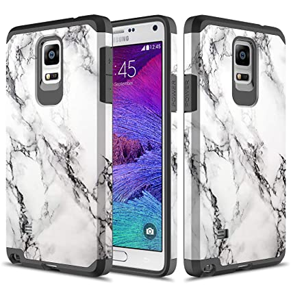 the latest dd160 ffd7e Galaxy Note 4 Case, TownShop Hard Impact Dual Layer Shockproof Bumper Case  for Samsung Galaxy Note 4 - Marble