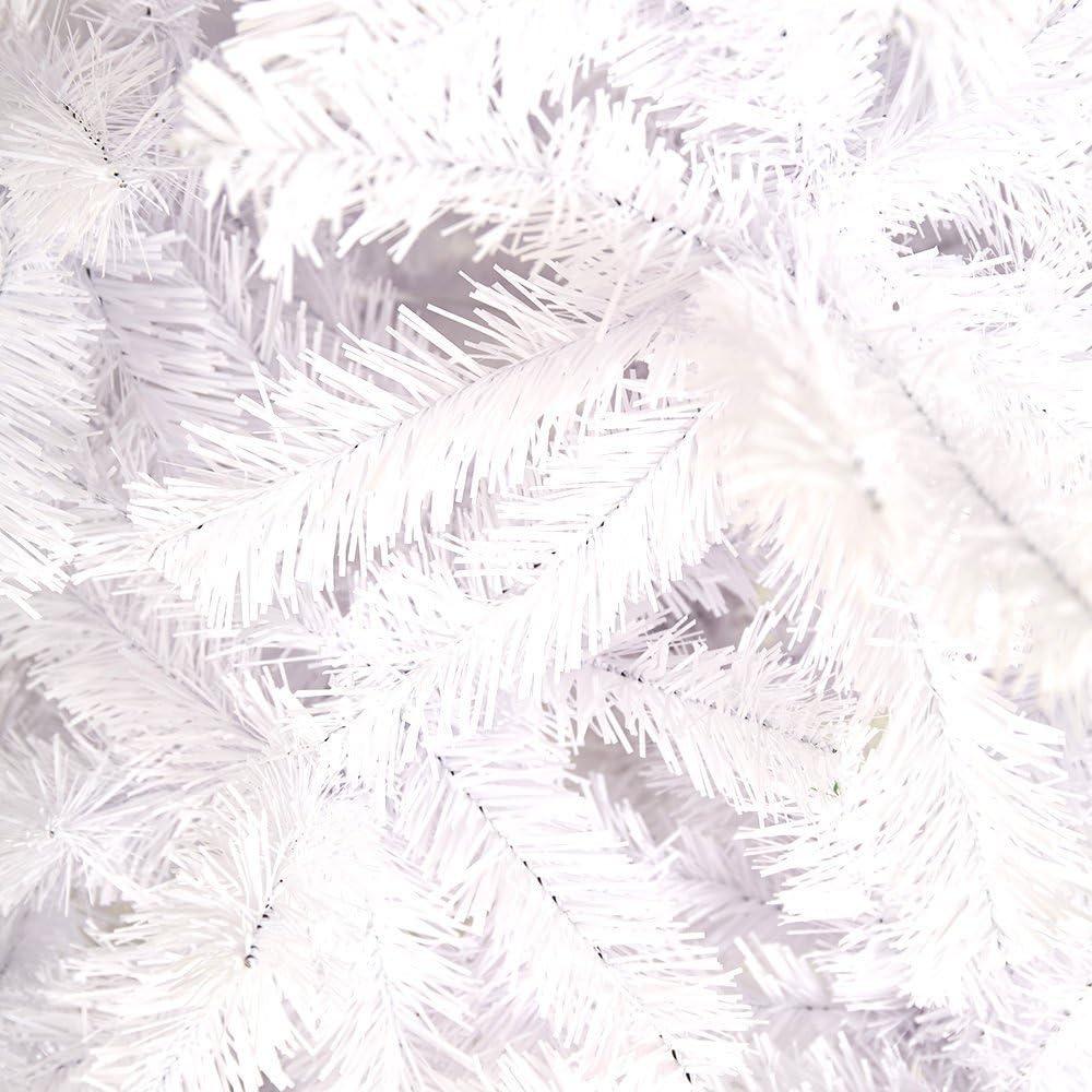 60 cm MCTECH 60 cm PVC /Árbol de Navidad Artificial Blanco /Árbol de Navidad Blanco /Árbol de Decoraci/ón con Soporte