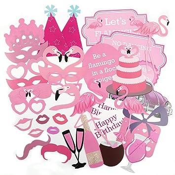 CLE DE TOUS - Pack de 31 piezas Photocall para Bautizo Fiesta Baby Showers Cumpleaño Set