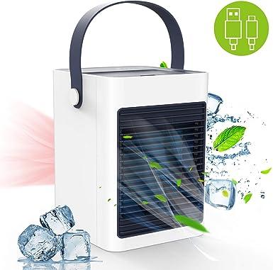 Aire Acondicionado USB, TedGem Aire Acondicionado Pequeño, 3 en 1 ...