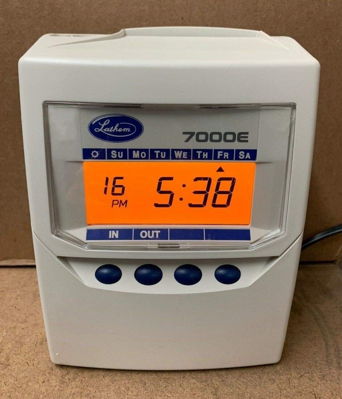 Lathem time clock 7000e user guide   manualsonline. Com.