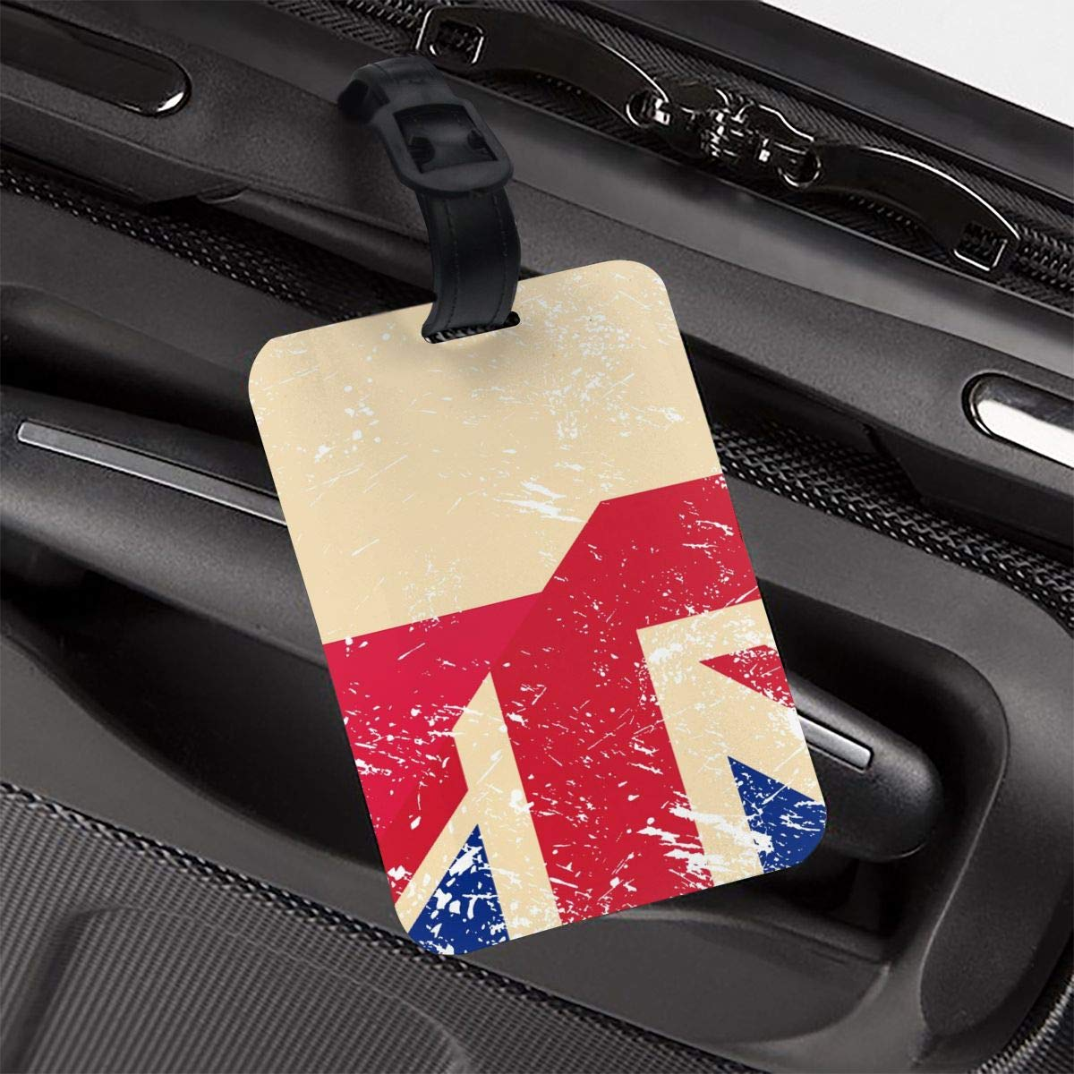 NB UUD Birtish and Poland Retro Flag Travel Luggage Tag Fashionable Employees Card Luggage Tag Holders Travel ID Identification Labels for Baggage Suitcases Bags