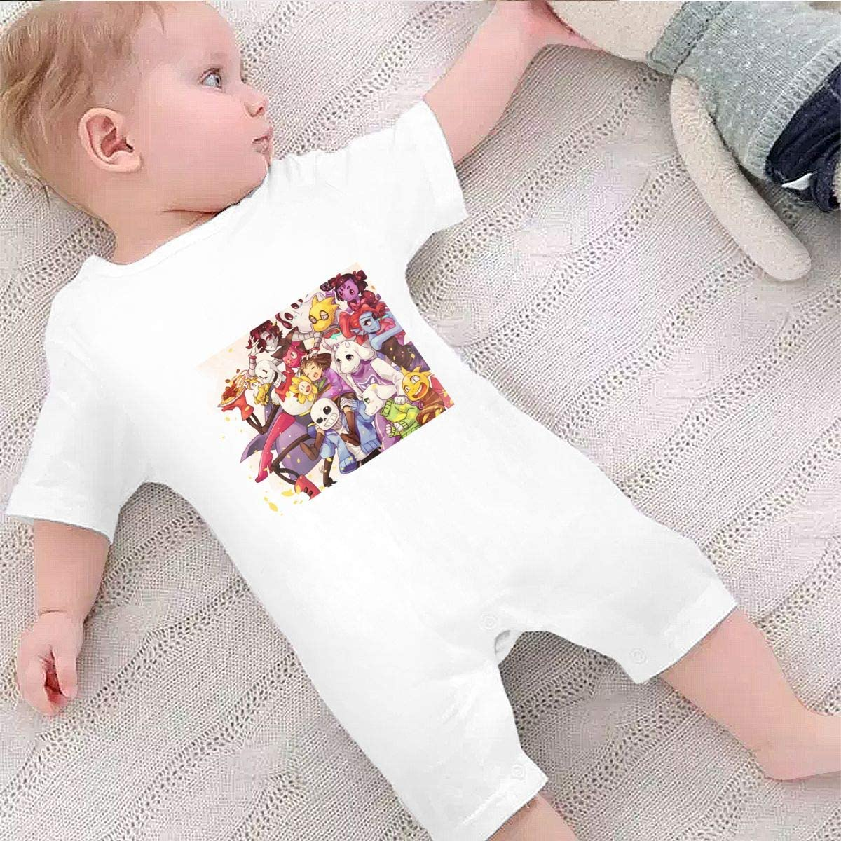Baby Boys Girls Shorts Sleeve Romper Undertale Sans Outfit Creepers Bodysuit Clothes Jumpsuit