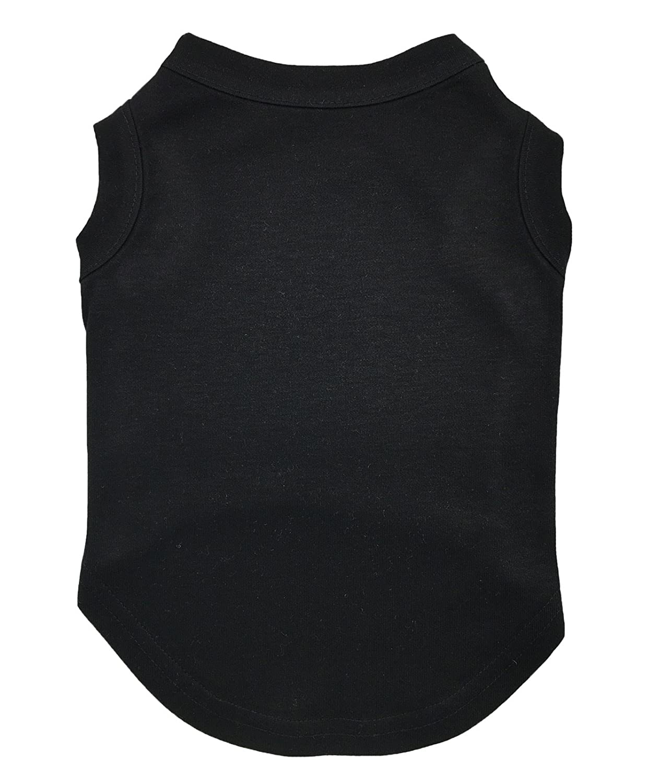Petitebella Pet Supply Plain Black Cotton Tank Top T-Shirt Blouse Dress Dog Cat (Small)