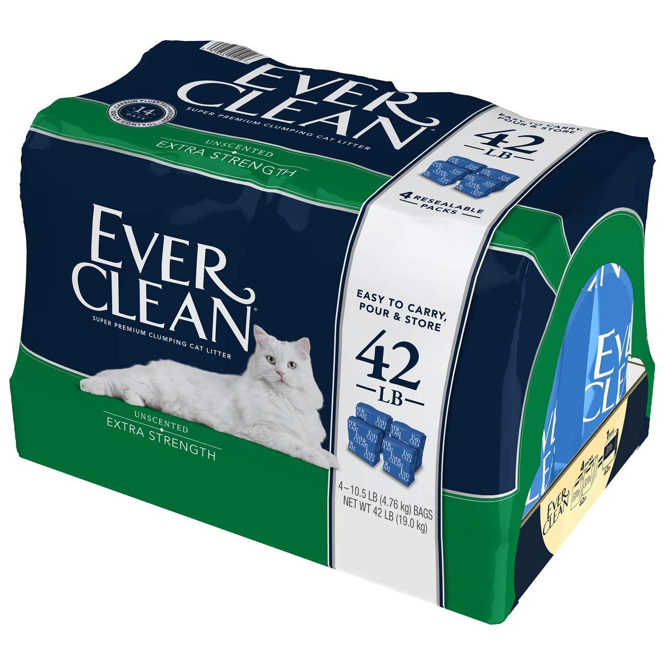 Ever Clean Extra Strength Cat Litter, Unscented, 42 Pound Bag (Packaging May Vary) by Ever Clean