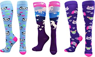 product image for MadSportsStuff Neon Unicorn Socks Over The Calf