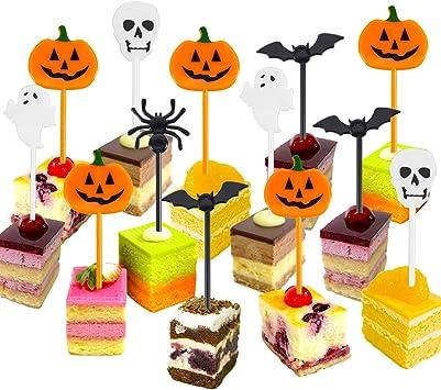 Amazon.com: Tatuo Púas de plástico para Halloween, cupcakes ...