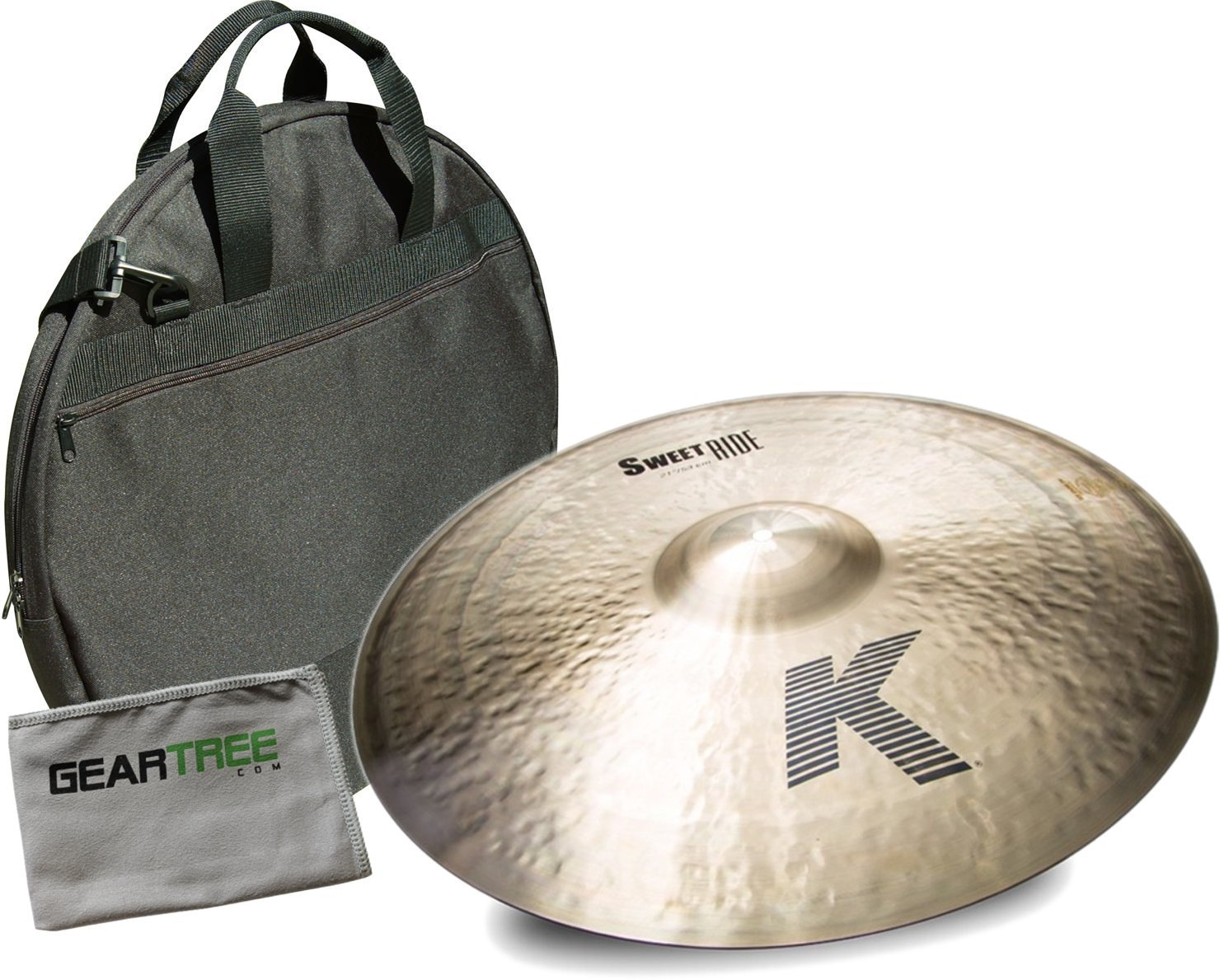 Zildjian K0731 21in K Zildjian Sweet Ride Cymbal Bundle w/Bag and Cloth Z I L D J I A N