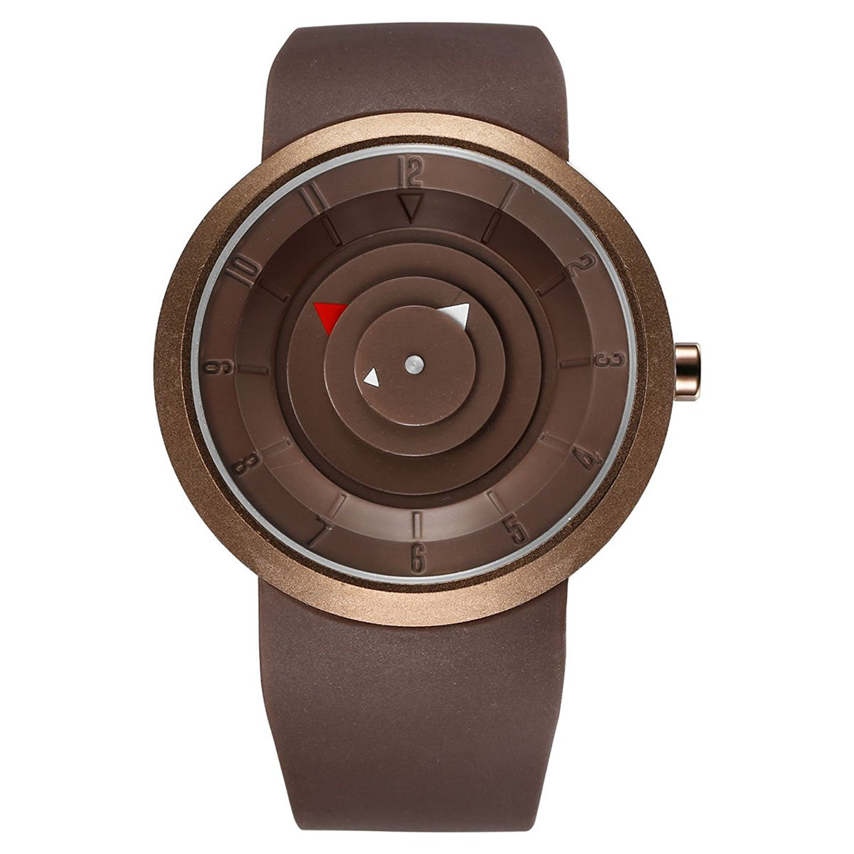 buyeonlineメンズクリエイティブTurnplate表示ブラウンWrist Watch withステンレスベゼル B06XK1G984