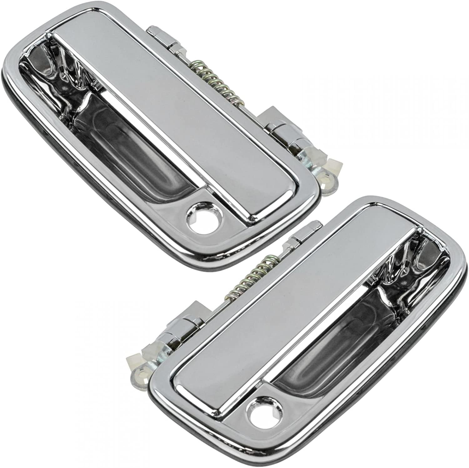 Exterior Door Handle Front Driver Side LH LF Chrome for Pickup Truck