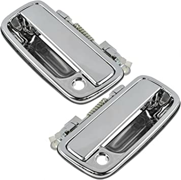 AUTEX Door Handles 2pcs Exterior Front Left Right Driver Passenger Side Compatible with Toyota Tacoma 1995-2004 Replacement for Toyota Hilux 02 03 04 05 06 07 08 09 10 11 12 Door Handle 769MX 768MX