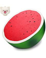 WATINC 1 PC Jumbo Watermelon Squishy Sweet Scented Funny Comfortable Squishy for Kid Toy, Lovely Toy,Stress Relief Toy,Decorations Toy Gift Large Watermelon