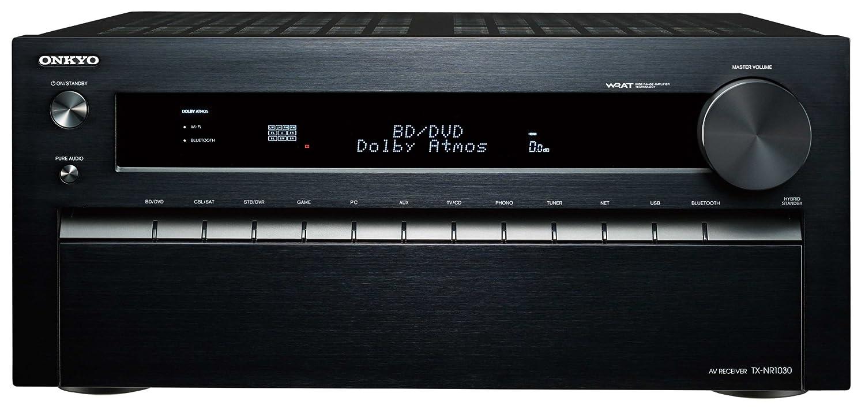 ONKYO AVレシーバー 7.1ch/4K/ネットワークオーディオ/ハイレゾ音源/Dolby Atmos対応 ブラック TX-NR1030(B) B00NN4C544