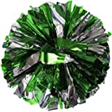 ❤SU/&YU❤ Metallic Foil and Plastic Ring Handheld Pom Poms Cheerleading Party Football Decor