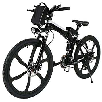 Befied Bicicleta Eléctrica de montaña plegable 26 inch 7 Velocidades con Bateria Litio 36 V Motor