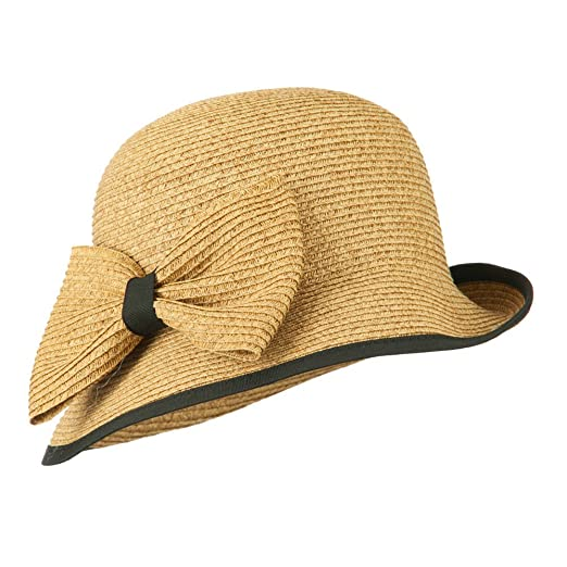 1930s Style Hats | 30s Ladies Hats Womens UPF 50+ Slanted Brim Cloche $34.49 AT vintagedancer.com