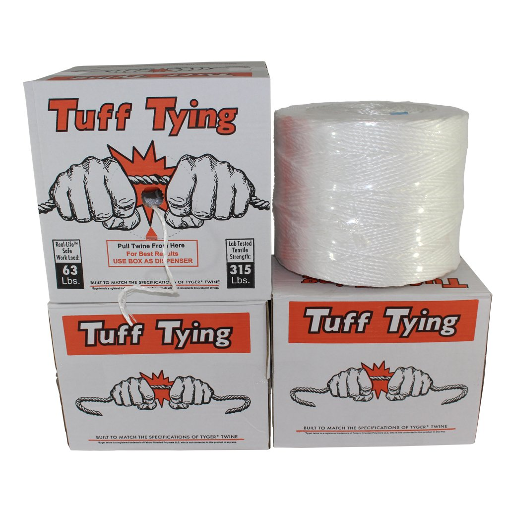 White 1 ply - 3500 feet Commercial Bundling /& Packaging UV Tuff Tying Polypro Twine Industrial-Grade Center-Pull Box Dispenser Chemical Protection SGT KNOTS Polypropylene Twine Moisture