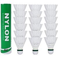 Fostoy Badminton Shuttles, 18 Pack Nylon Shuttles met grote stabiliteit en duurzaamheid, hoge snelheid badminton ballen…