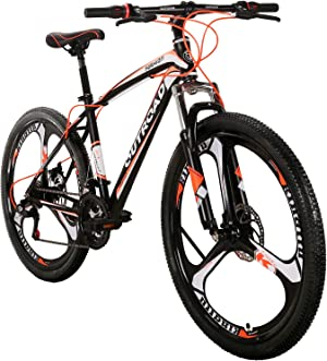 Max4out Mountain Bike 21 Speed with High Carbon Steel Frame, 26 inch Wheels, Double Disc Brake, Front Suspension Anti-Slip Bikes