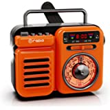 Raddy RW3 Retro Bluetooth Speaker, Portable Power Bank, Battery Operated, AM/FM/NOAA, Emergency Hand Crank Radio Solar Powere