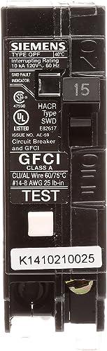 Siemens QF115 15-Amp 1 Pole 120-Volt Ground Fault Circuit Interrupter