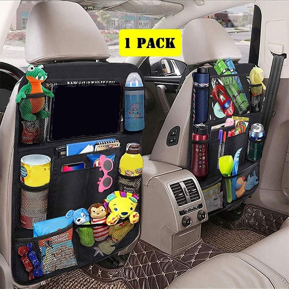 dezirZJjx Car Storage Bag, Oxford Cloth Car Seat Back Tablet Bottle Holder Hanging Storage Bag Organizer by dezirZJjx