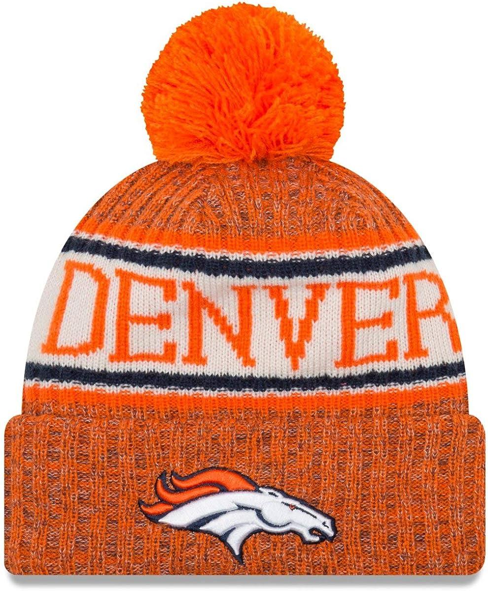 New Era Gorro Tejido con pompón NFL Denver Broncos Naranja