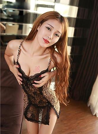 Contiene uniformes SM adulto traje de leopardo de la ropa interior atractiva atractiva del sujetador apretado Sao Pijamas Panti Passion , 1: Amazon.es: ...