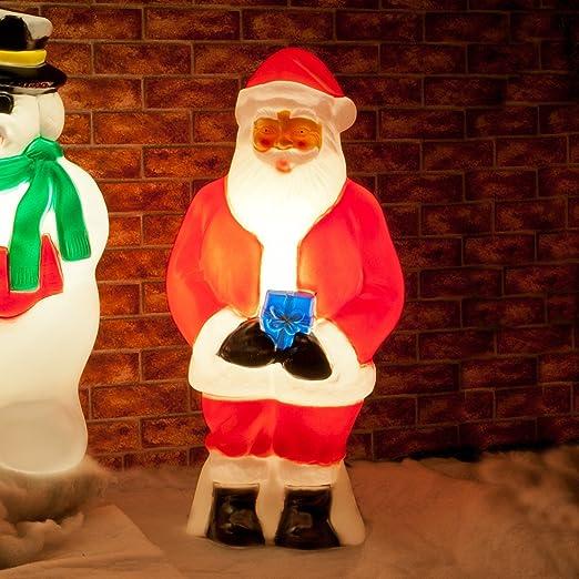 Outdoor Festive Lights Santa blow mould 87cm red white christmas figure outdoor santa blow mould 87cm red white christmas figure outdoor led workwithnaturefo