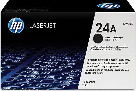 HP 24A Black LaserJet Toner Cartridge Q2624A Toner Cartridges at amazon