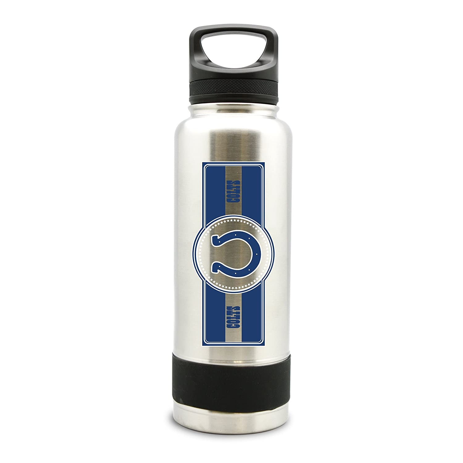 NFL Indianapolis Colts 38oz Double Wall Stainless Steel Large Water Bottle Duck House Sports LSW