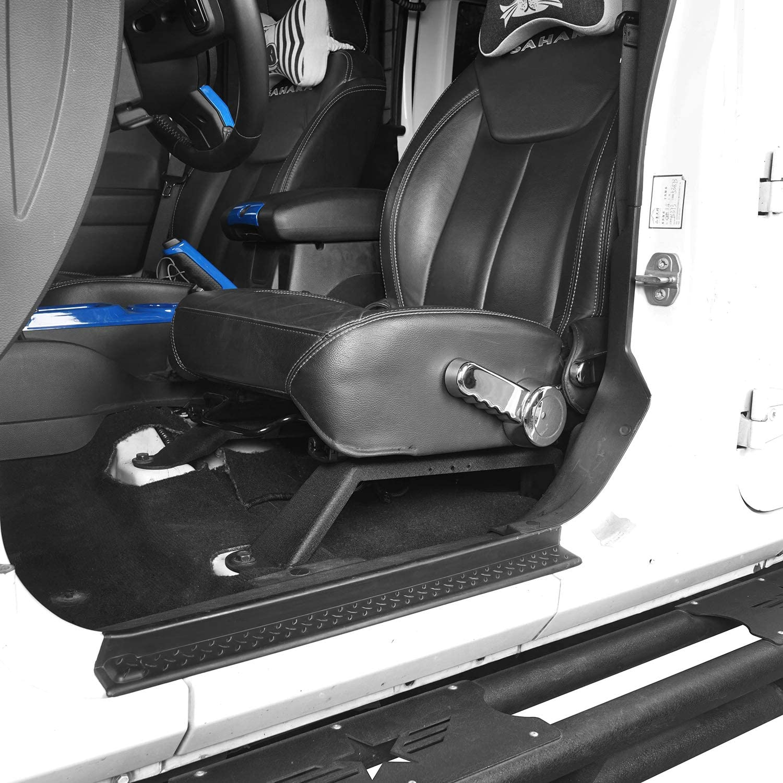 Hooke Road Front Driver Bigboy Seat Slider Extender Bracket for 2011-2018 Jeep JK Wrangler /& Unlimited