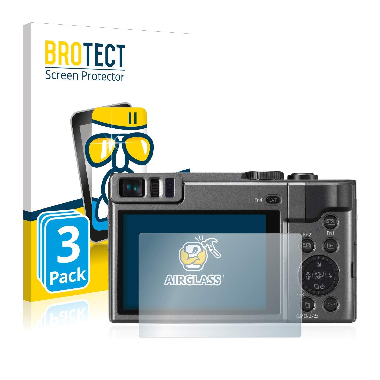 BROTECT Protection Verre pour Panasonic Lumix DC-TZ90 Film Protection Ecran [3 Piè ces] Protecteur Vitre - AirGlass Bedifol
