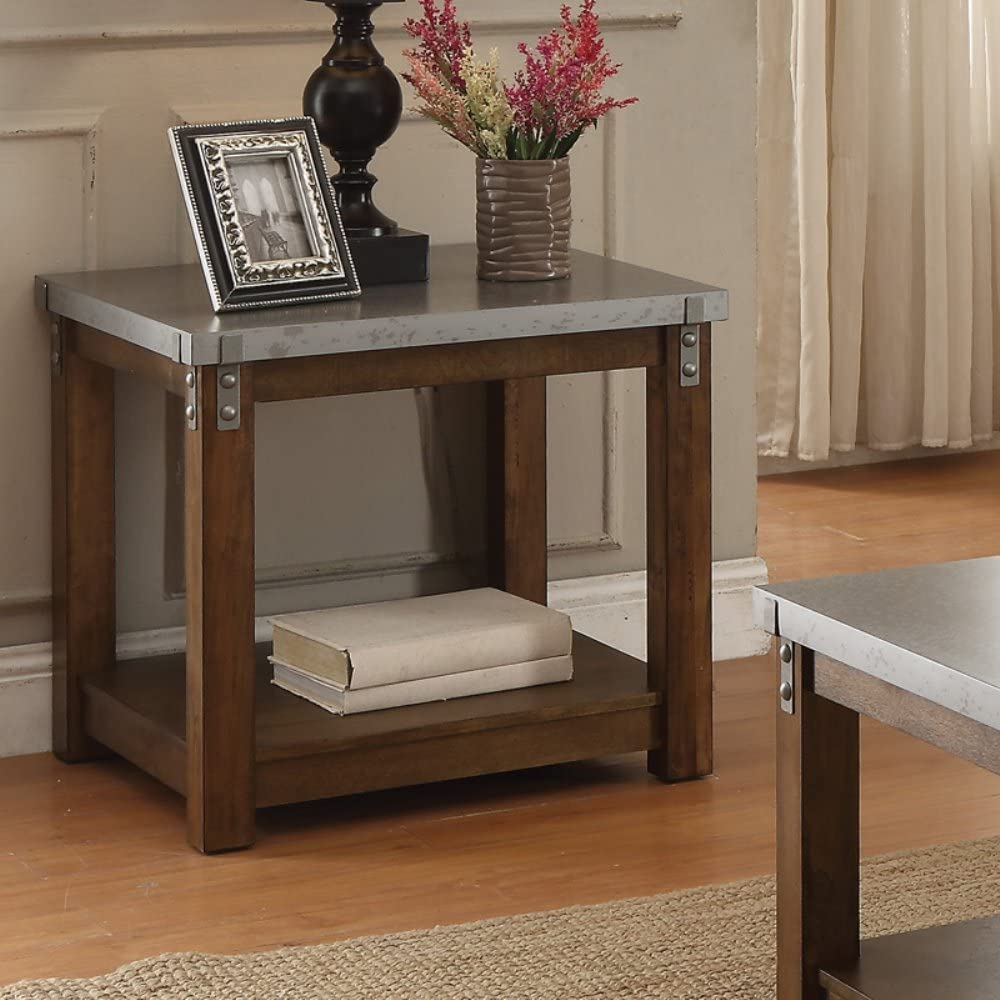 Coaster Home Furnishings Galvanized Table Top End Table