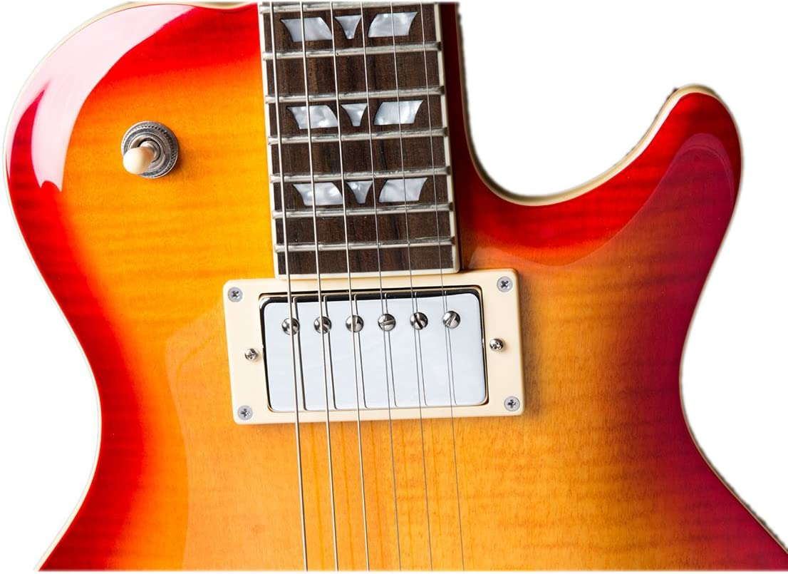Hamer XT Serie Mónaco llama guitarra eléctrica, color top cherry ...