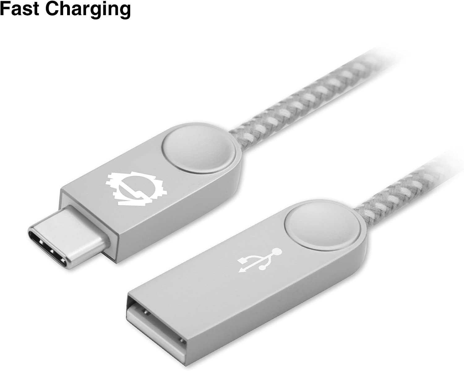 3.3ft SIIG Premium Zinc Alloy USB-C to USB-A Charging /& Sync Braided Cable - Low Profile Design 2-Pack