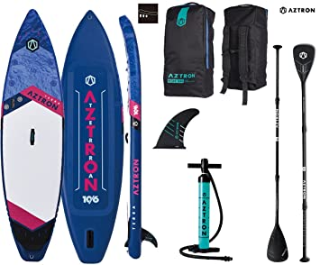 AZTRON Terra 10.6 Double Double Sup Stand Up Paddle Board Set Oferta, Board+Speed Carbon Paddel: Amazon.es: Deportes y aire libre