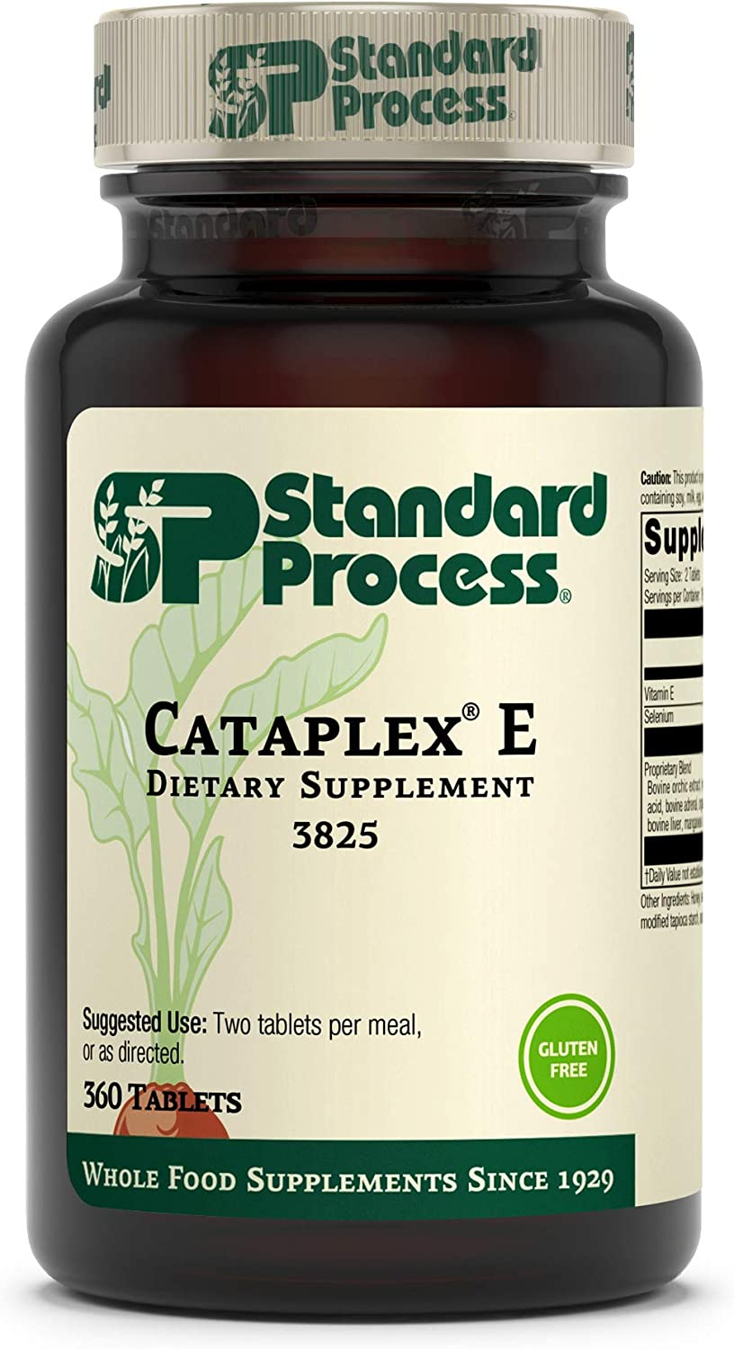 Standard Process Cataplex E - Whole Food RNA Supplement and Antioxidant with D-Alpha Tocopherol Vitamin E, Beet Root, Ascorbic Acid, Inositol, Selenium, and Honey - 360 Tablets: Health & Personal Care