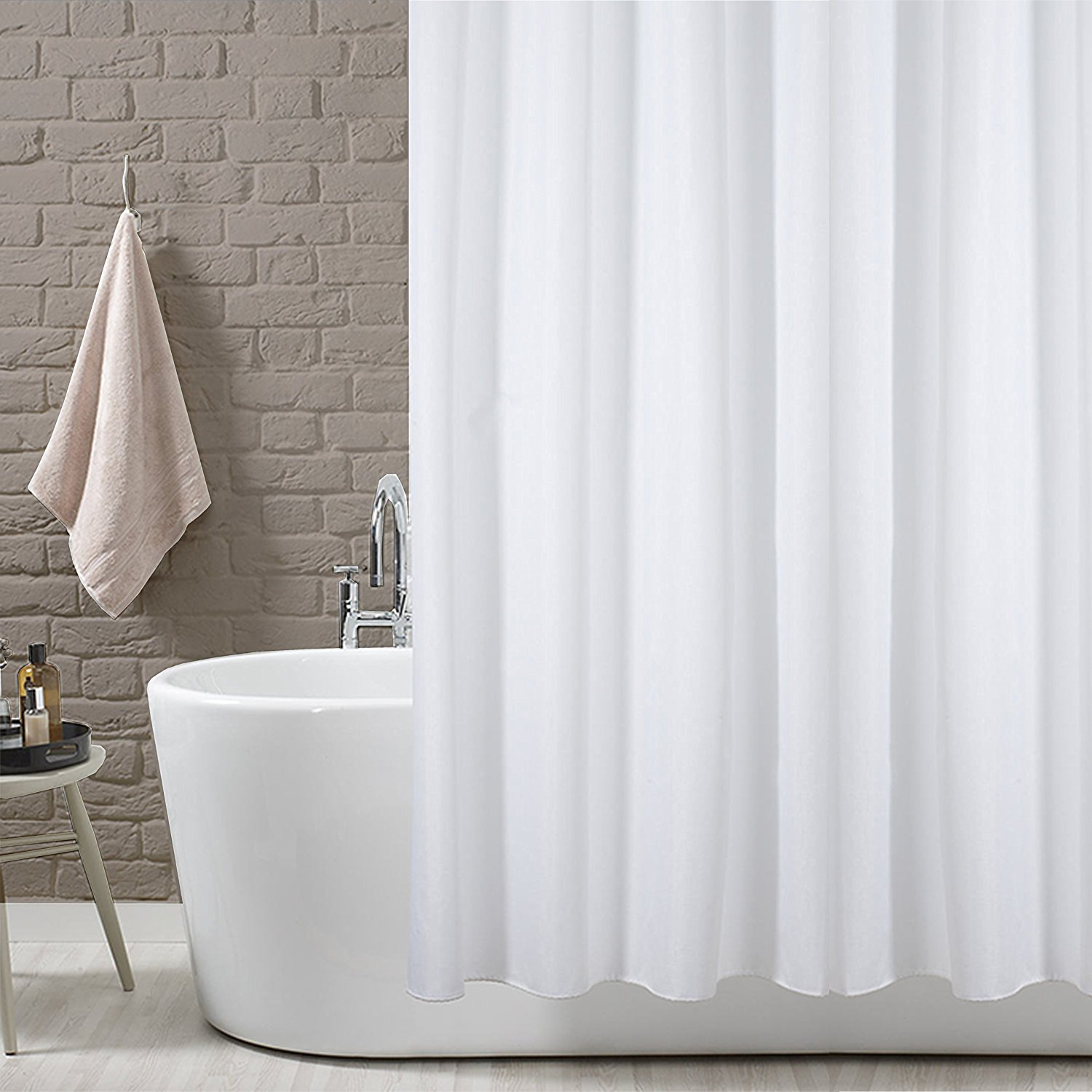 resistant bath over overstock on free water home curtains product fashions carnation shipping orders cityscape fabric curtain shower bedding