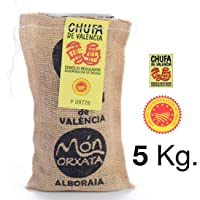 5 KG. CHUFA TRADICIONAL MÓN ORXATA. Saco yute. A granel Denominación de Origen Valencia. Directa de familias agricultoras. Ideal para consumo en crudo o elaboración de horchata casera.