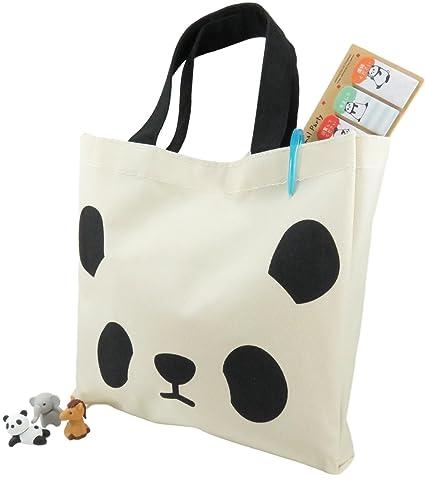 Amazon Com Daiso Japan Panda Tote Bag Purse And Page Markers