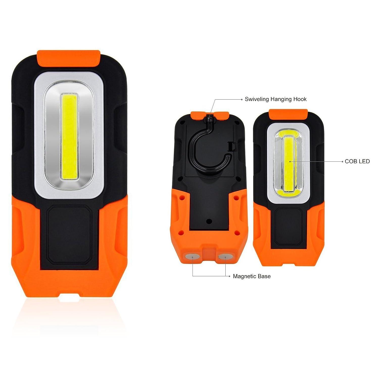 Ofkpo Lampe De Torche Led Lampe Baladeuse A 3w Cob Led Batterie