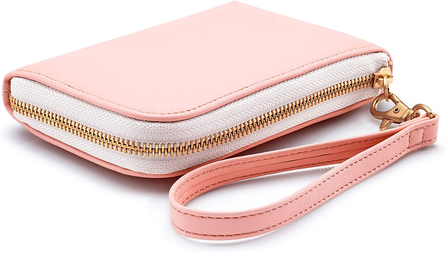 HP Sprocket Wallet Case - Portable Photo Printer Protective Soft Case with Side Pocket and Wrist Strap -Blush (4NC15A)