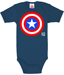 Logoshirt Marvel Comics - Capitán América Logo Body para bebé - Pelele para bebé - Azul - Diseño Original con Licencia: Amazon.es: Ropa y accesorios